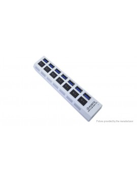 7-Port USB 3.0 Hub On/Off Switch + AC Power Adapter (US)
