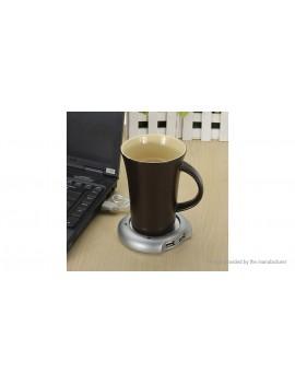 4-Port USB Hub+Coffee Tea Beverage Cup Mug Warmer Heater