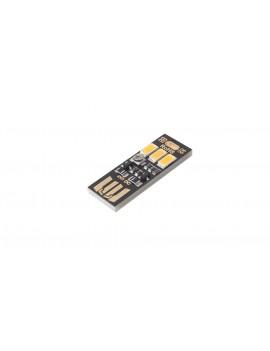 3*5630 80LM 3000-3500K Warm White Light USB Lamp (5-Pack)