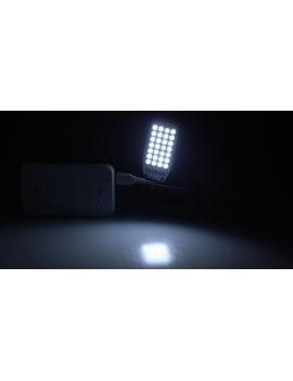 Flexible 1.5W 28*LED 200LM 6500K Pure White USB LED Light Lamp