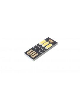3*5630 80LM 6000-6500K Pure White Light USB Lamp (5-Pack)
