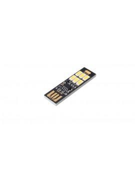 6*5630 100LM 6000-6500K Pure White Light USB Lamp (5-Pack)