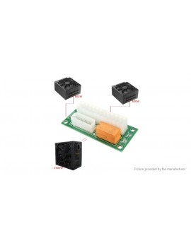 24-pin Dual Power Supply Sync Starter Adapter Connector Relay Extender Cable Card