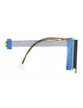 PCIe 1X to 16X Riser Card Adapter Extension Cable