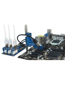 PCIe 1X to 3*PCIe 1X Riser Card Extender for Bitcoin Miner