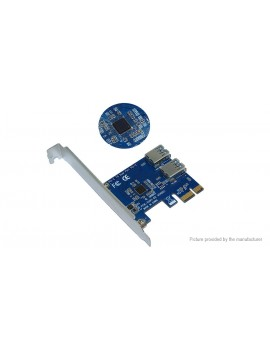 1-to-2 PCIe Multiplier Hub Riser Card for Bitcoin Miner