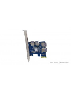 PCIe 1X to 4-Port PCIe 16X Multiplier Card for Bitcoin Miner