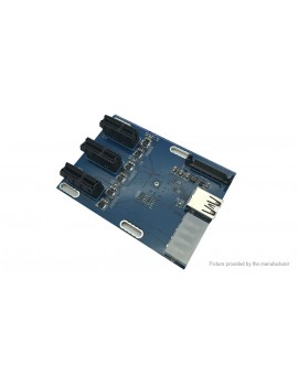PCIe 1X to 3-Port PCIe 1X Multiplier Card for Bitcoin Miner