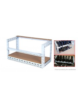 6-GPU Steel Stackable Mining Rig Open Air Frame Case