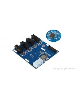 PCIe 1X to 4-Port PCIe 1X Multiplier Card for Bitcoin Miner