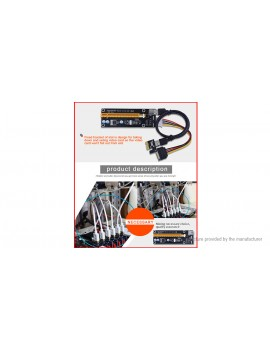 PCIe 1X to 16X Riser Card Extension Cable Converter for Bitcoin Miner