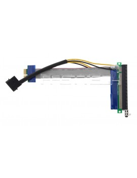 PCIe 1X to 16X Riser Card Adapter Flexible Extension Cable (15cm)