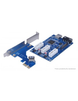 PCI-E 1X to 3 PCI Express Riser Card Adapter for Bitcoin Miner