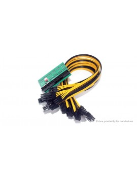 1600W PSU Breakout Board Adapter w/ PCIe 6-pin Video Card Adapter Cable