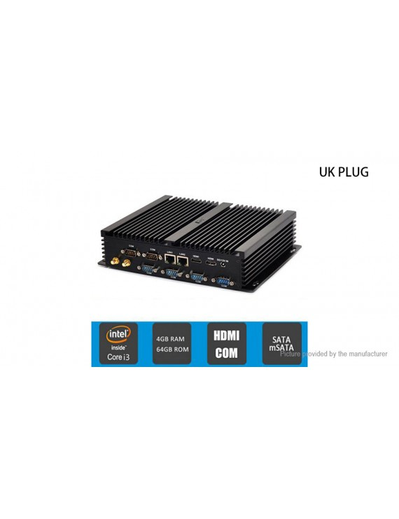 HYSTOU FMP04B Dual-Core Fanless Mini PC (64GB/UK)